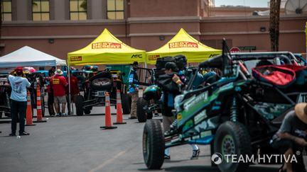 Race Vehicles Near BITD Tech Tents