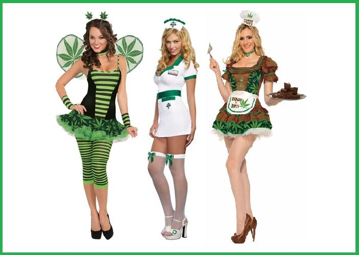 Sexy Halloween Costumes for Women that Smoke Pot