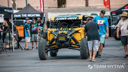 Yellow Canam Getting Pushed through Tech