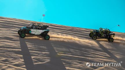 Team Hytiva Canam being chased by Monster Energy Canam