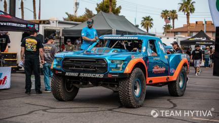 Number 24 Blue and Orange Householder Trick Truck