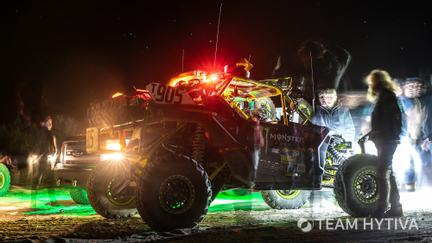 Marc Burnett Canam Parked with Lights On