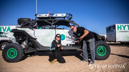 Team Hytiva Canam with Marc and Christie