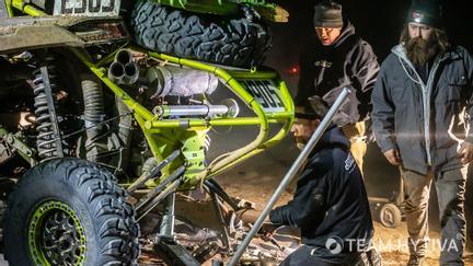 Rear Suspension Fix at Night