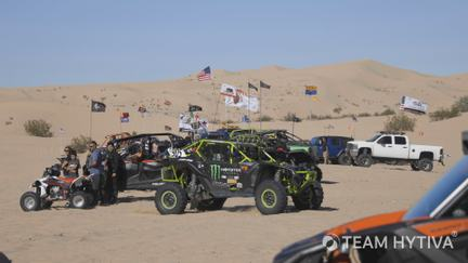Crowd out at Glamis