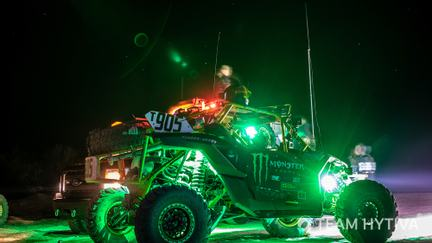 Monster Energy Canam Lights at Night