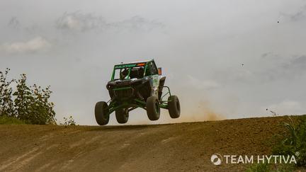 Polaris UTV Jumping Dirt Hill