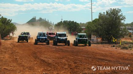 UTV Racers Coming Down Straight