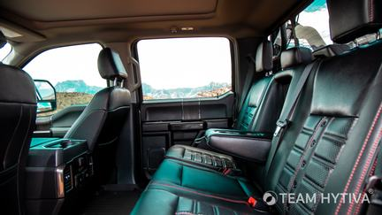 Rear Leather Seats in the Shelby Super Baja