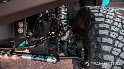 Driver Side Wheel Hub and Suspension Linkage