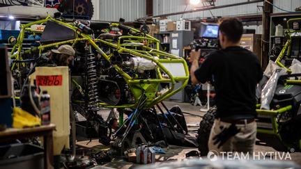 Marc Burnett Race Car in Garage