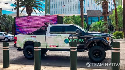 Ford F-250 Driving On The Las Vegas Strip