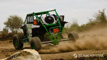 Team Hytiva UTV Kicking Up Dirt