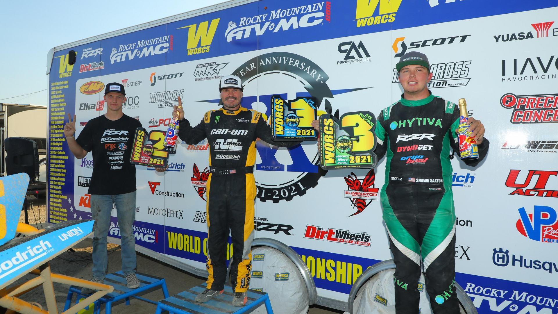 Team Hytiva's Shawn Saxton takes 3rd Place at Round 8 Glen Helen