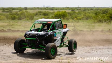 Team Hytiva Polaris Turning Fast on Track