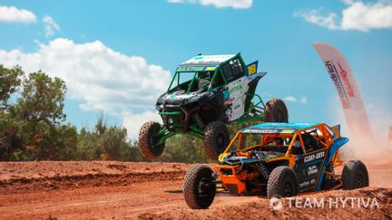 Polaris Racing CanAm Over Jump