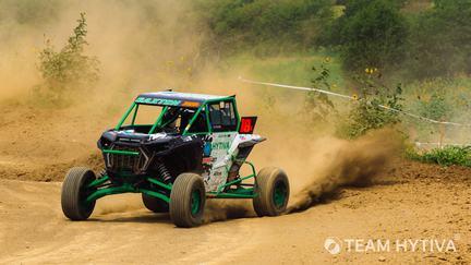 Shawn Saxton UTV Kicking Up Dirt