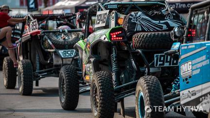 UTV Race Vehicles in Line