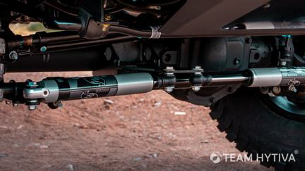 Left and Right Shocks of FOX Dual Steering Stabilizer System