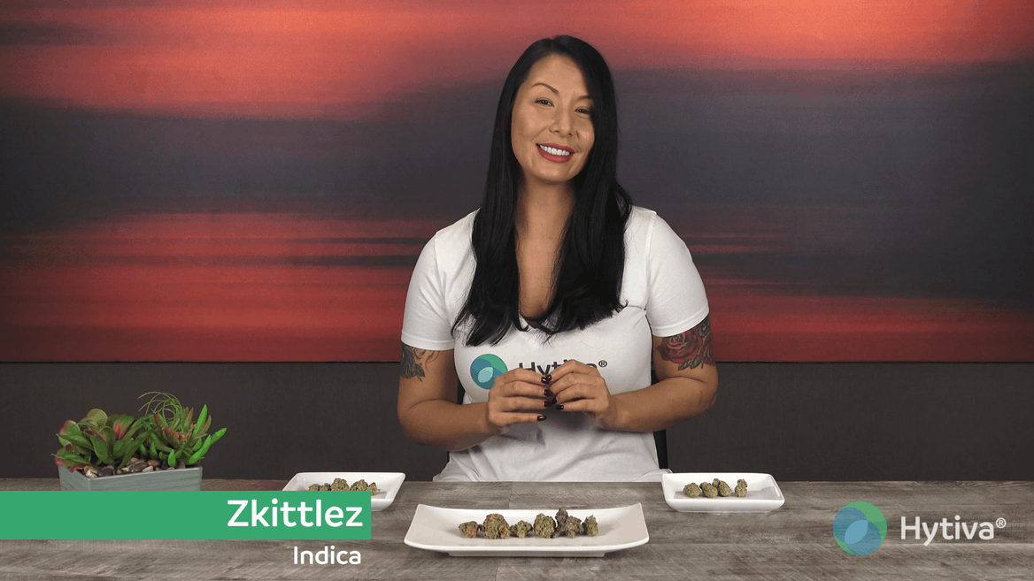 Strain review video: Zkittlez